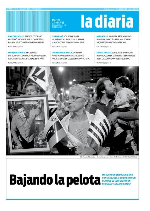 La diaria, edición 24/03/15