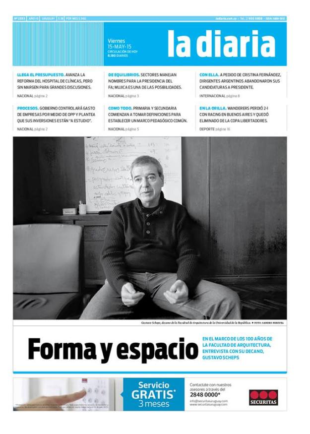 La diaria, edición 15/05/15