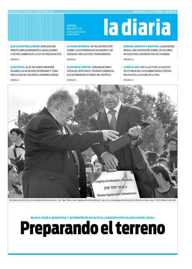 La diaria, edición 08/10/15