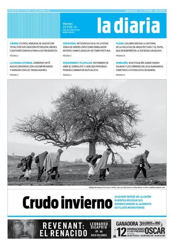 La diaria, edición 29/01/16