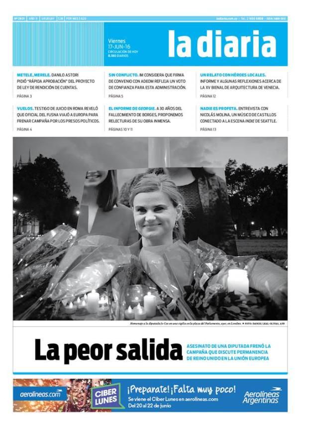 La diaria, edición 17/06/16