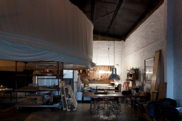 Overall view of the studio showing the sub spaces on it